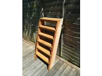 Very strong wooden 6 step ladder