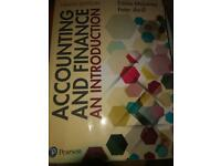 Accounting and Finance uni book