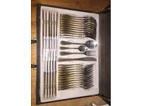72 X Edelstahl Rostfrei 18/10 Gold Plated Cutlery Set