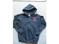 Black Hoody Sama Karate Organisation- zip- 152cm 12-13 yrs - as new-£4