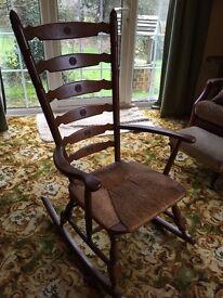 light wood oak rocking chair