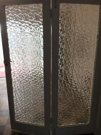 Bi folding glass doors. Retro. Excellent condition. Pick up landare. 07968209351.