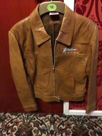 Ladies Planet Hollywood leather jacket - UK size 12