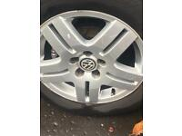 15 inch Vw alloys &tyres