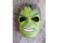 Hulk Mask, hard plastic with elasticated strap.