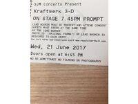 1x Ticket Kraftwerk - Royal Albert Hall - Wednesday 21/6/17