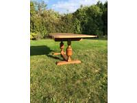 Antique Solid Oak Extending Draw Leaf Refectory Dining Table