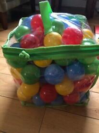Plastic balls for baby ball pool.