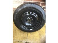 VW Audi Spare wheel tyre 215/55/16