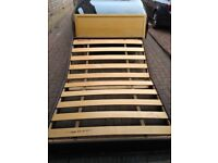 Free Double bed with solid wood headboard