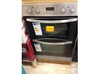 ZANUSSI - Catalytic Integrated - 60cm - Double Oven - Stainless Steel and Black - RRP 549 - GRADED