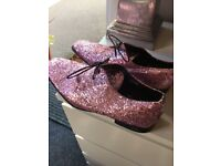Men's pink glitter shoes worn once