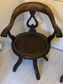 Antique Dark Oak Chair