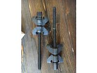 Pair of coil spring compressors