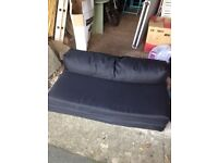 Kids sofa bed / Futon - black