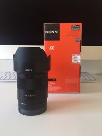 Sony Zeiss 55mm FE f1.8 prime lens