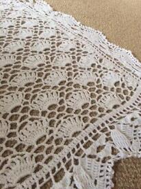 NOW REDUCED Beautiful hand crocheted Christening shawl and matinee jacket