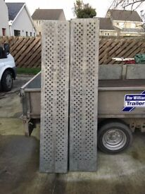Pair 6ft Steel Trailer loading ramps **GOOD CONDITION**