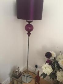 Purple glass floor lamp