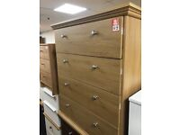 4 drawer oak colour chest