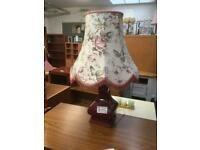Pink electric lamp with shade #42073 £15