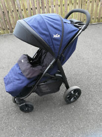 Joie Litetrax 4 Wheel Stroller Eclipse - with Footmuff and Raincover 0-36 months