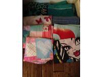 8 girls single duvet covers and pillowcases