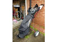 Golf clubs (full set) trolley and bag