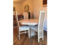 Cream Marble Dining Table