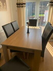 Dining Table With 6 Chairs (open to offers)