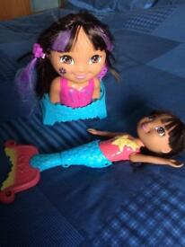 Swimming Dora and bath set Dora