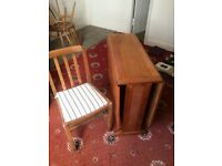 Folding table plus 3 chairs