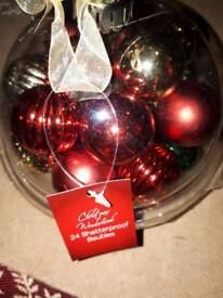 24 small Christmas ball new and sealed