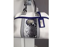 Twiggy by Marks and spencers handbag - white, grey and blue