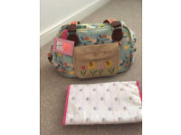 Blooming gorgeous pram/changing bag & mat. AS NEW