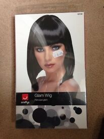 Fancy dress Glam black wig new in packet