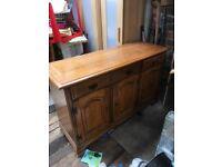 Solid wood 3 door sideboard/dresser base