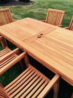 Teak Patio Set(s) with matching chairs