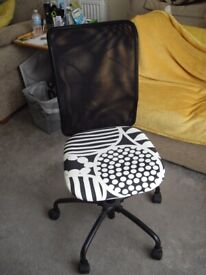 Computer operator or typist's swivel chair