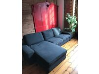 Three Seater Sofa, Dark Grey, Collection only.