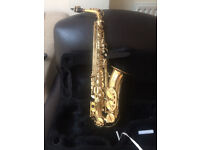 Saxaphone - Artemis A1 Alto - Engraved Bell, Excellent condition with case, straps, books and reeds