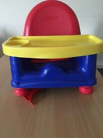 Safety first easy care swing tray booster seat