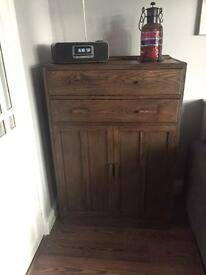 Tall boy cabinet with drawers