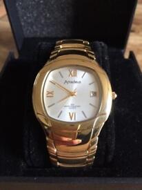 Genuine 18k Gold Plated Amadeus Men's Watch