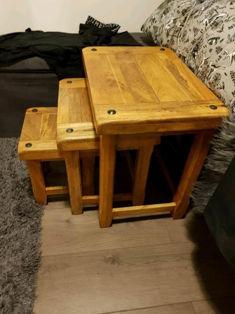 Baku Nest Of Tables Oak Furniture Land In Cheadle