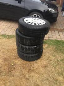 Volkswagen Golf / Caddy / Jetta / Touran Steel Wheels x 4