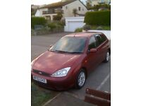 1.6 Ford Focus 1 Previous Owner , Full Service History, Maroon, MOT November,Car In Torpoint