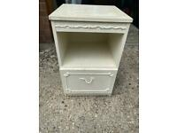 French Shabby Chic Cream Bedside Table
