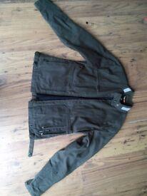 Tuscan urbano waxed jacket motorbike sized 42