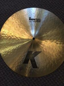"Cymbale Zildjian K Dark Crash 16"" usagée/used"